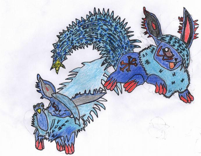 Pokémon-Zeichnung: Alola- Flamara:finaler Entwurf/ Notfallabgabe bis Klarheit besteht