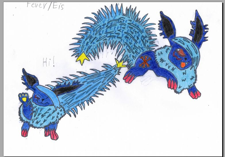 Pokémon-Zeichnung: Einreichung: Alola Flamara