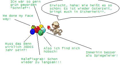 Pokémon-Pixelart: Ostern... Owei!