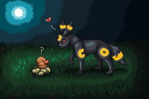 Pokémon-Pixelart: Ich will doch nur spielen. <3