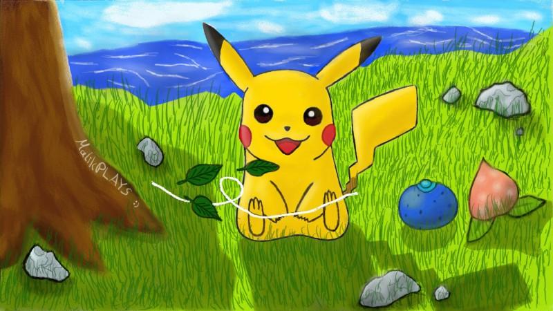 Pokémon-Zeichnung: Pikachu