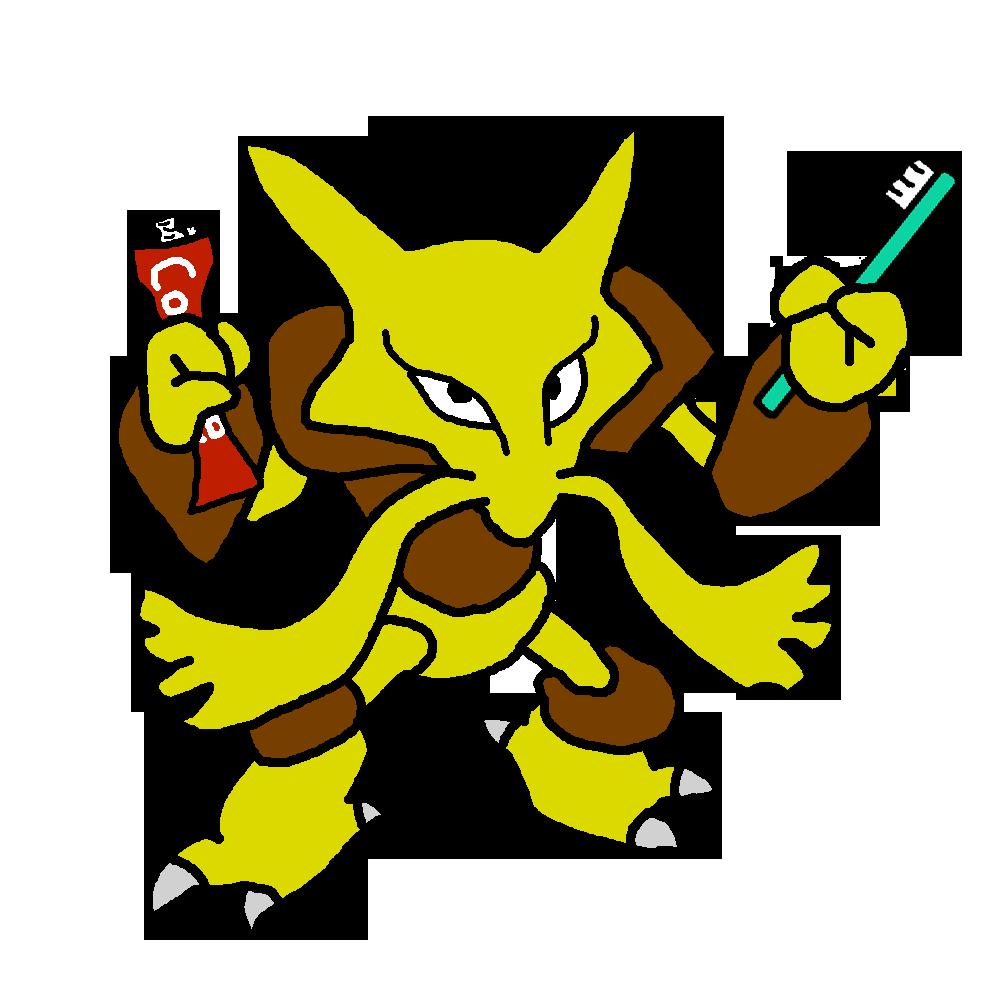 Pokémon-Zeichnung: Simsala vs. Karius und Baktus