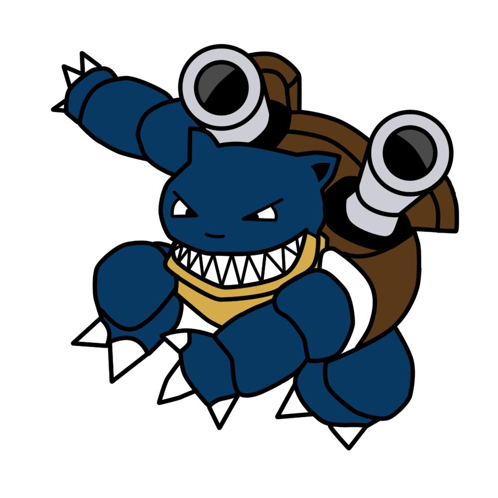 Pokémon-Zeichnung: Denn Blend-a-med schützt Zähne und Zahnfleisch.