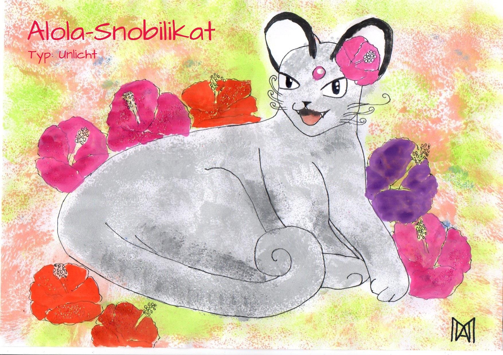 Pokémon-Zeichnung: Challenge/21 Alola-Snobilikat
