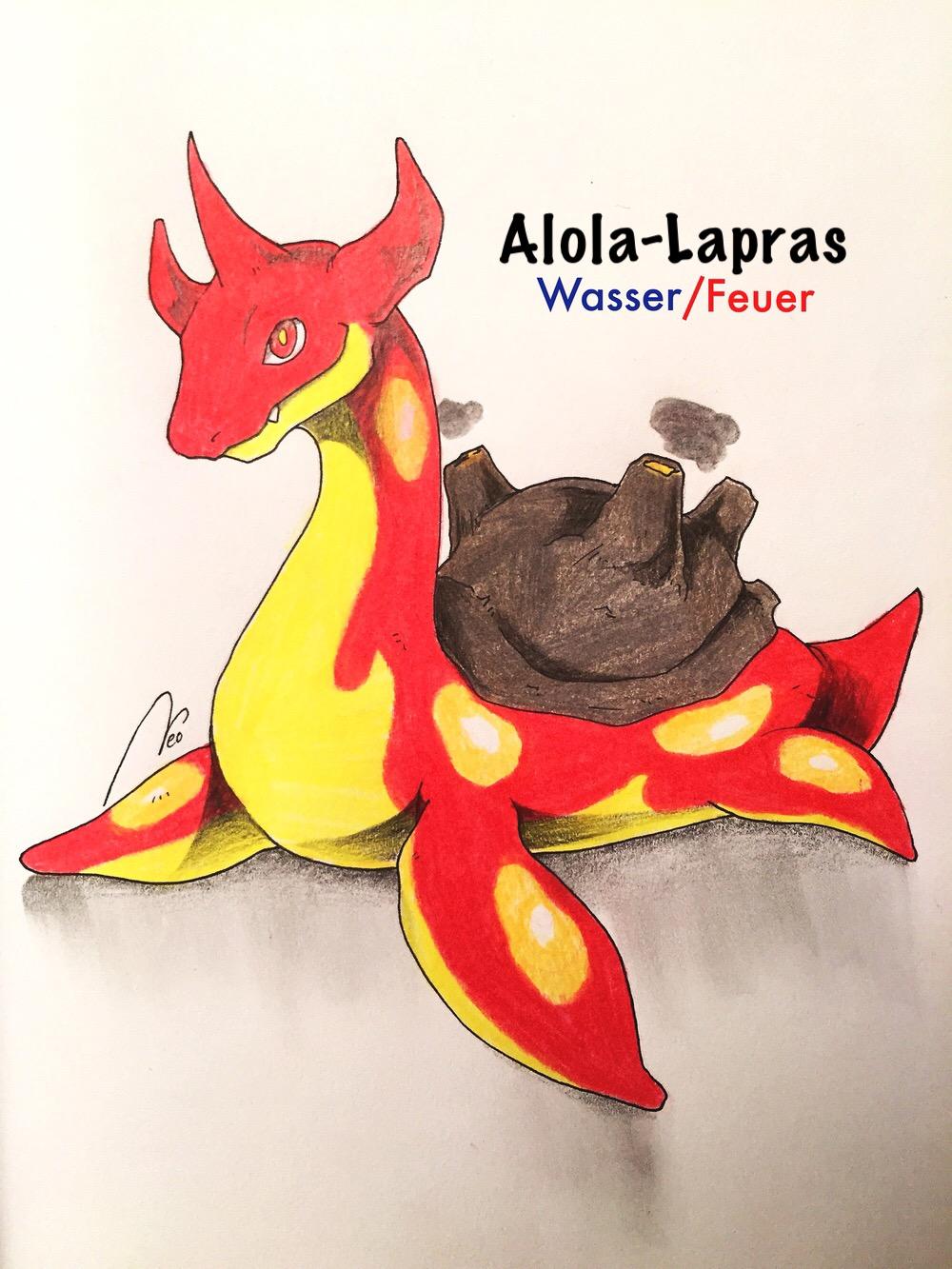Pokémon-Zeichnung: Alola-Lapras Challenge/21