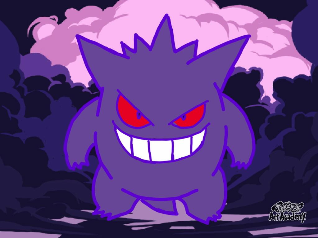 Pokémon-Zeichnung: Gengar
