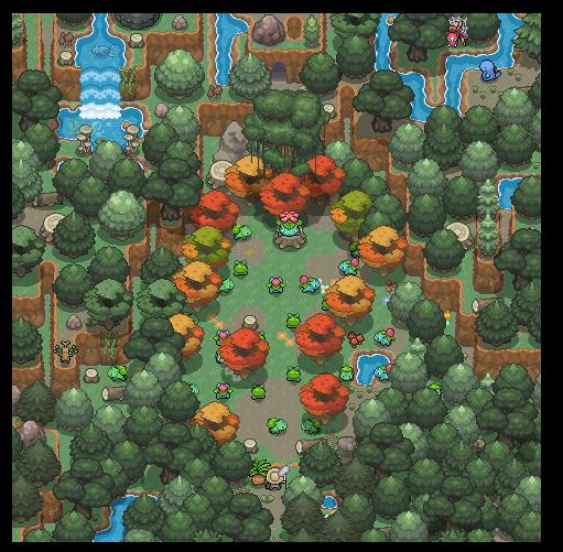 Pokémon-Map: Bulbasaurs Mysterious Garden