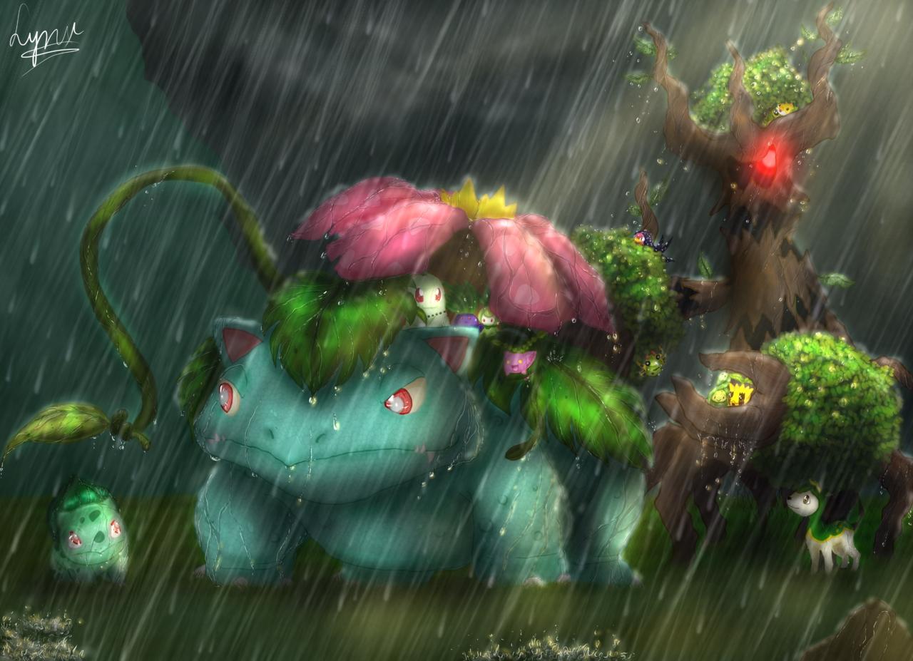 Pokémon-Zeichnung: Dem Sturm trotzen