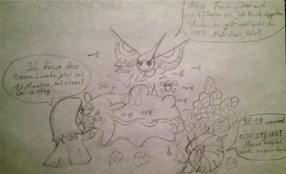 Pokémon-Zeichnung: Ganove Gastrodon (lv.1 Dungeon Struggles)