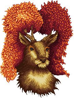 Pokémon-Pixelart: Portrait eines Kronjuwilds