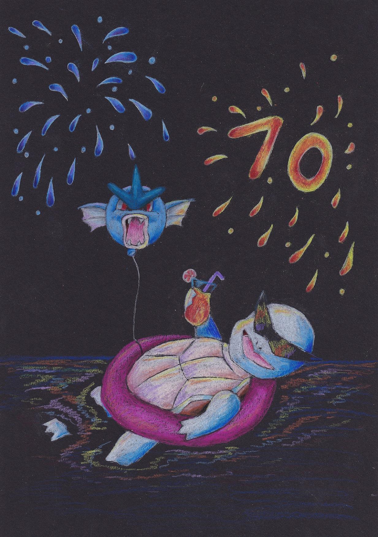 Pokémon-Zeichnung: Schiggy-Party