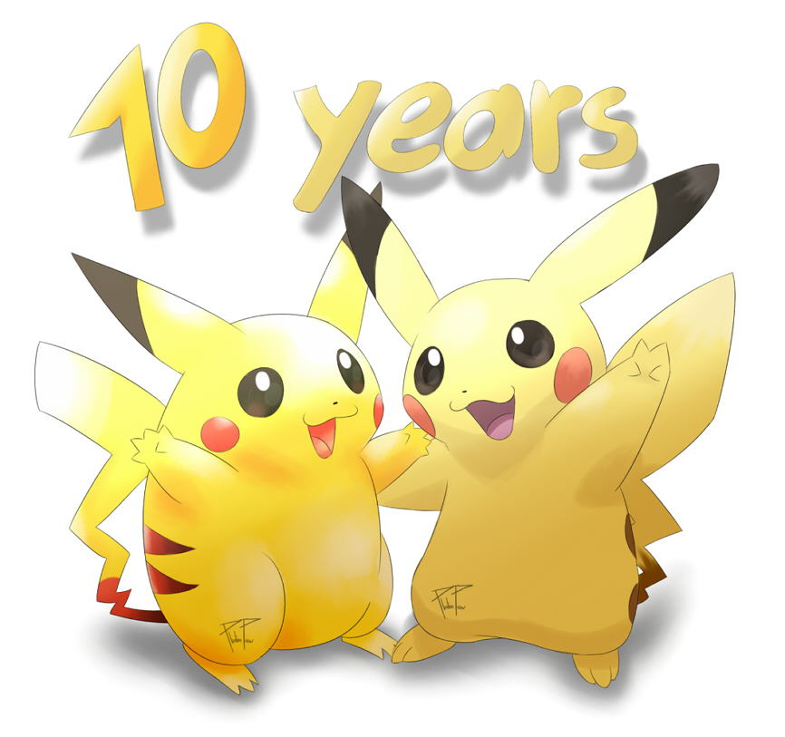 Pokémon-Zeichnung: 10 long years