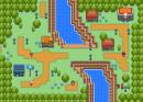 Kleine Stadt am Fluss