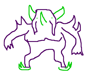 Pokémon-Zeichnung: Freie Interpretation von Olangaar