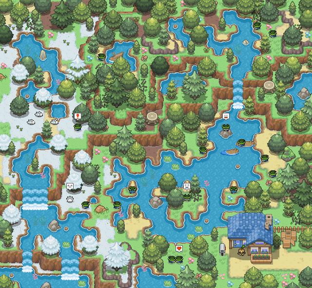 Pokémon-Map: Lotad Sanctuary