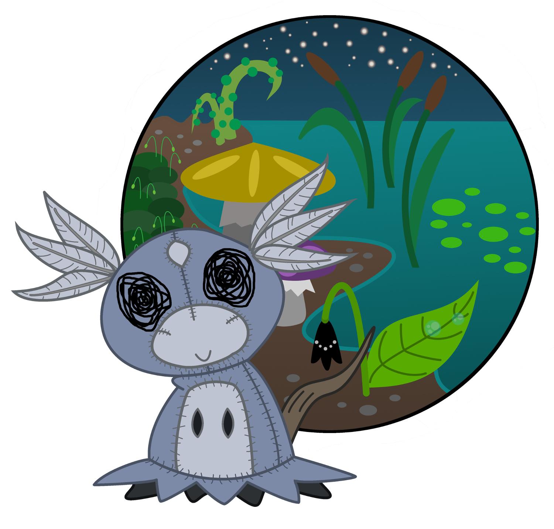 Pokémon-Zeichnung: Little Water Spirit