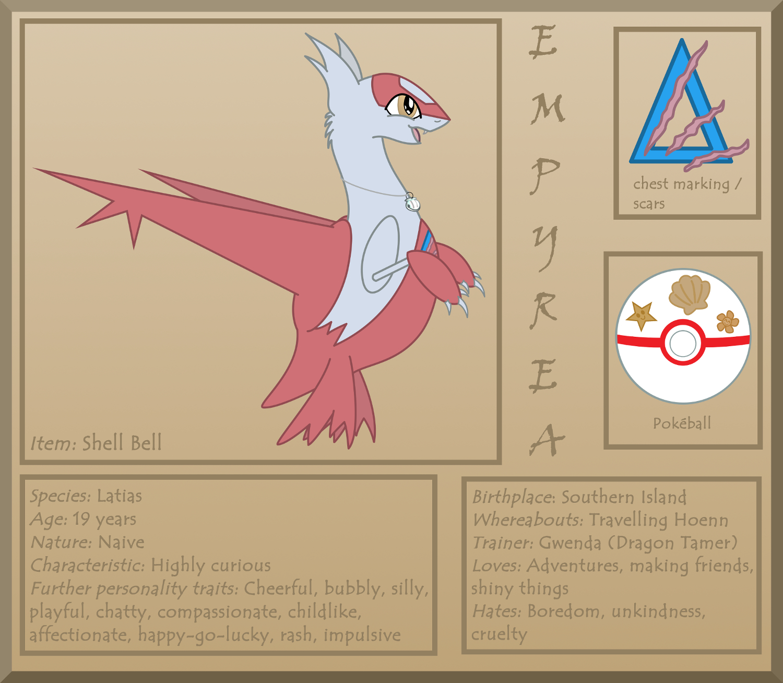 Pokémon-Zeichnung: Empyrea the Latias: Ref Sheet