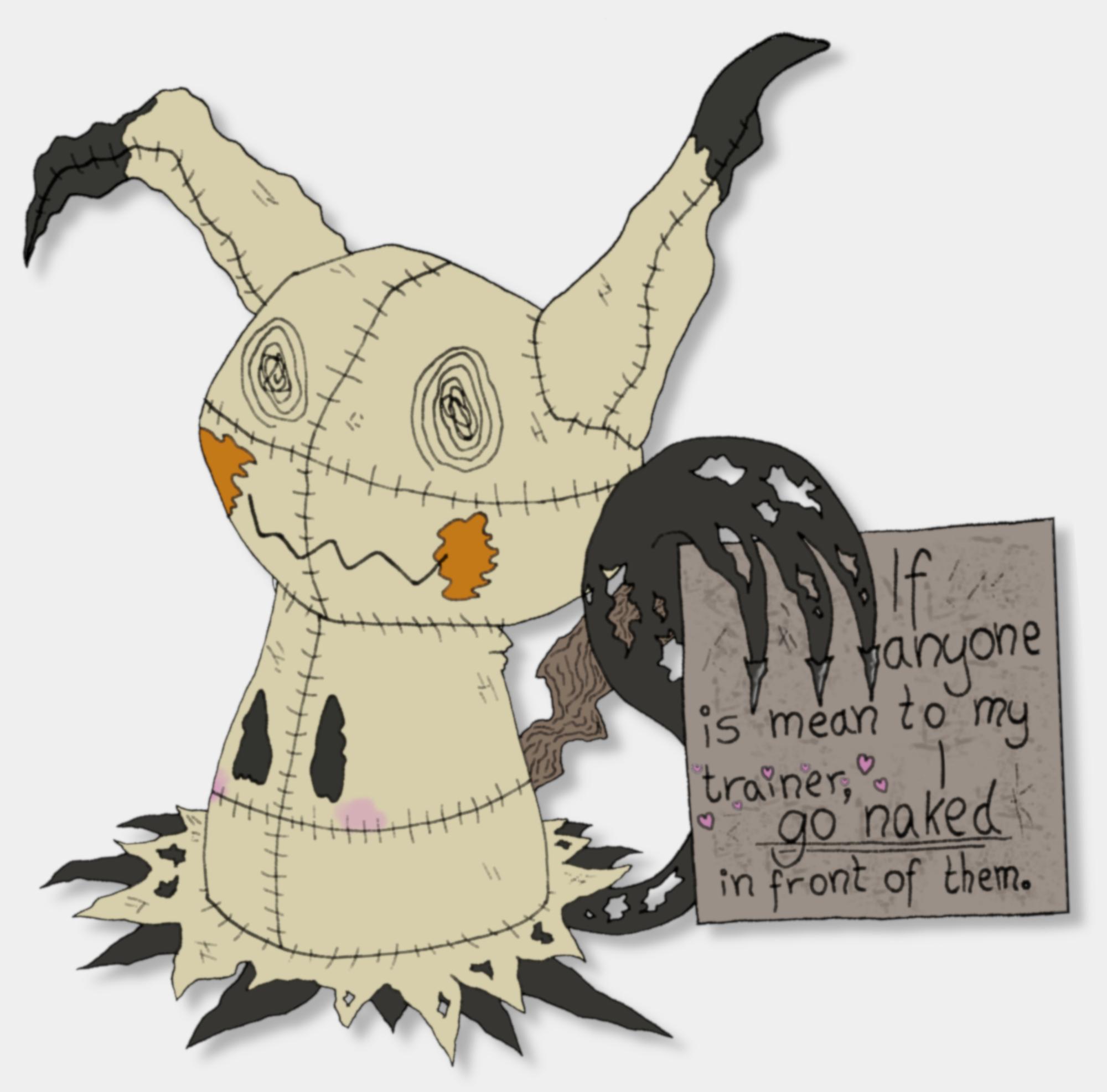 Pokémon-Zeichnung: Pokémon Shaming: Mimikyu