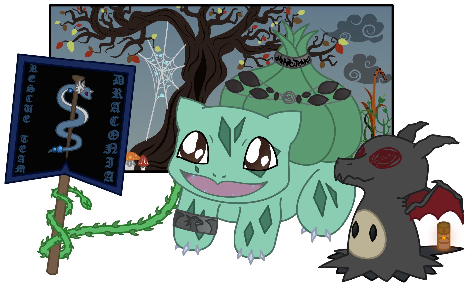 Pokémon-Zeichnung: Rescue Team Draconia