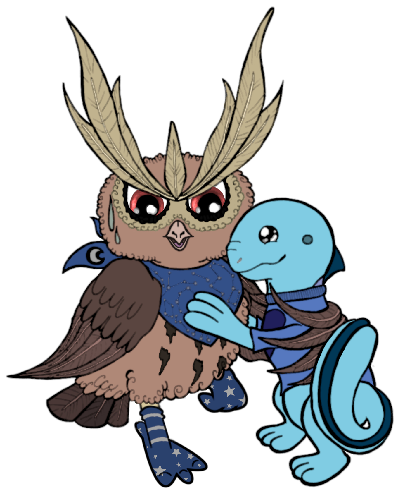 Pokémon-Zeichnung: Fluffy bird, you're my daddy now!