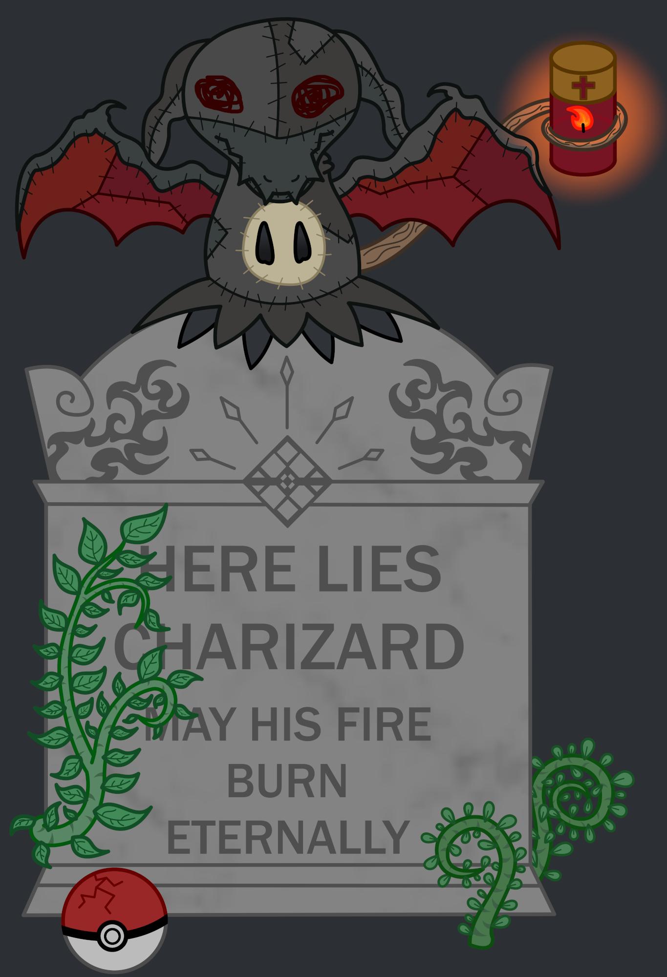 Pokémon-Zeichnung: Grave Guardian
