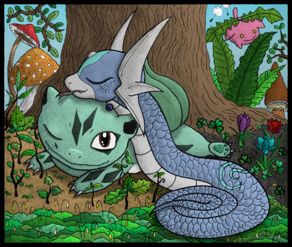 Pokémon-Zeichnung: Forest Slumber