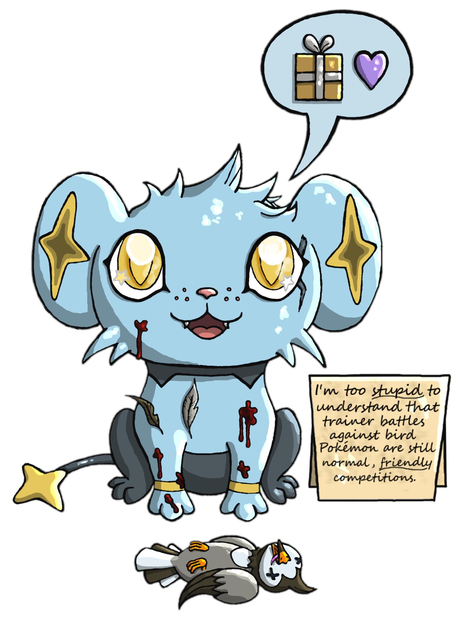 Pokémon-Zeichnung: Cute Little Present