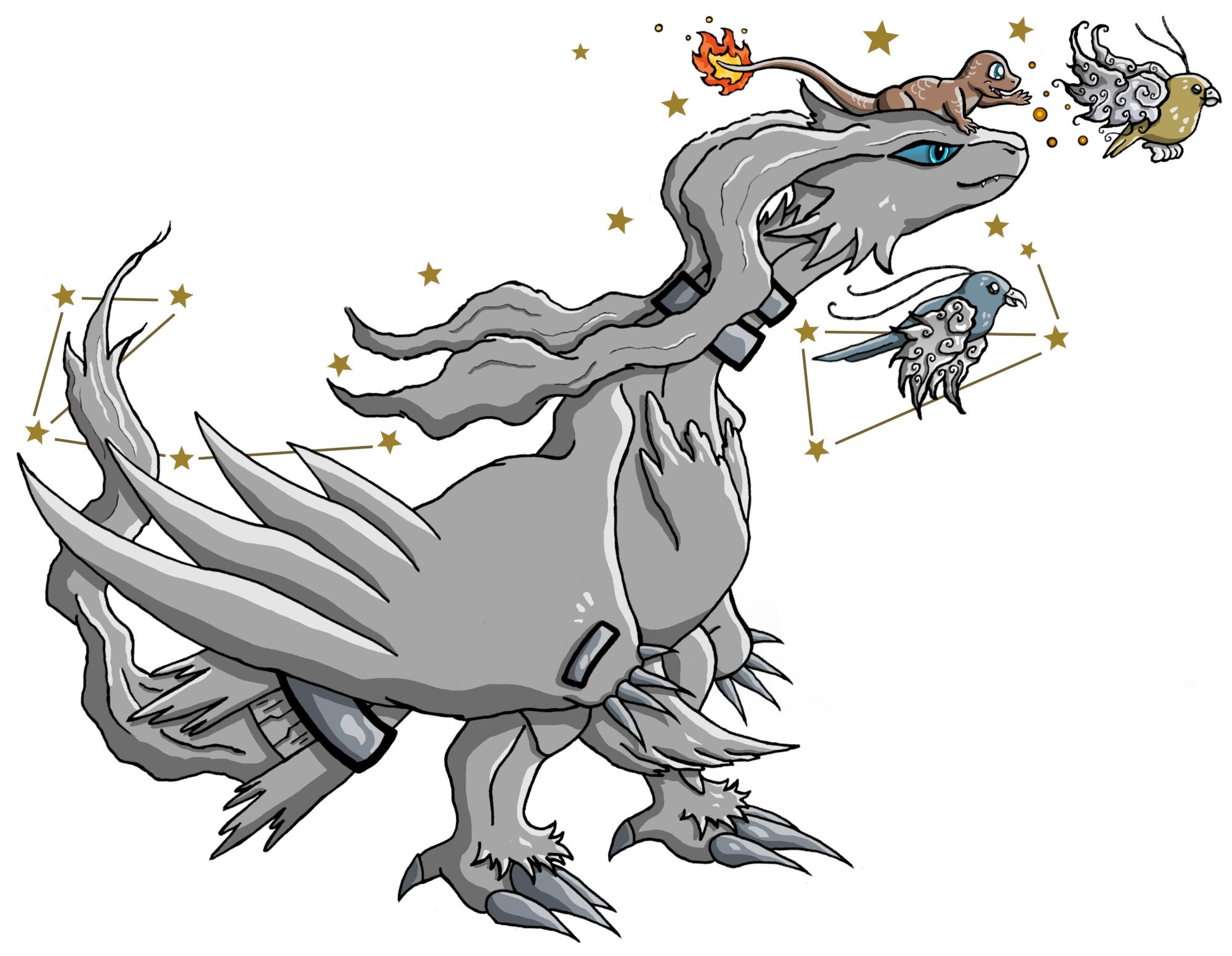 Pokémon-Zeichnung: Skygazing