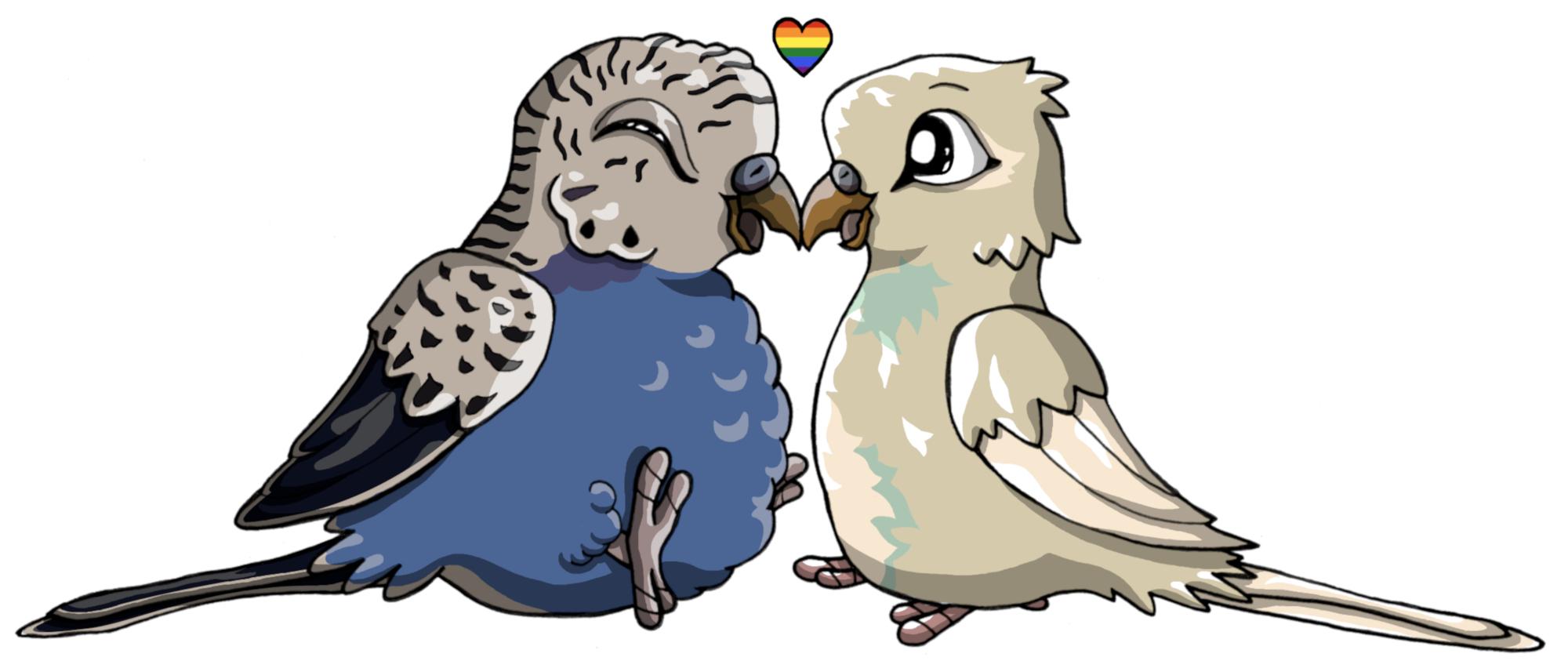 Pokémon-Zeichnung: Sky Bird and Moon Bird