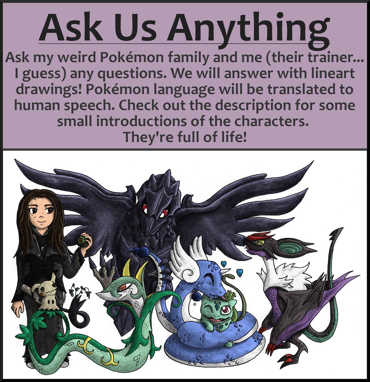 Pokémon-Zeichnung: Fragt meine Charaktere!