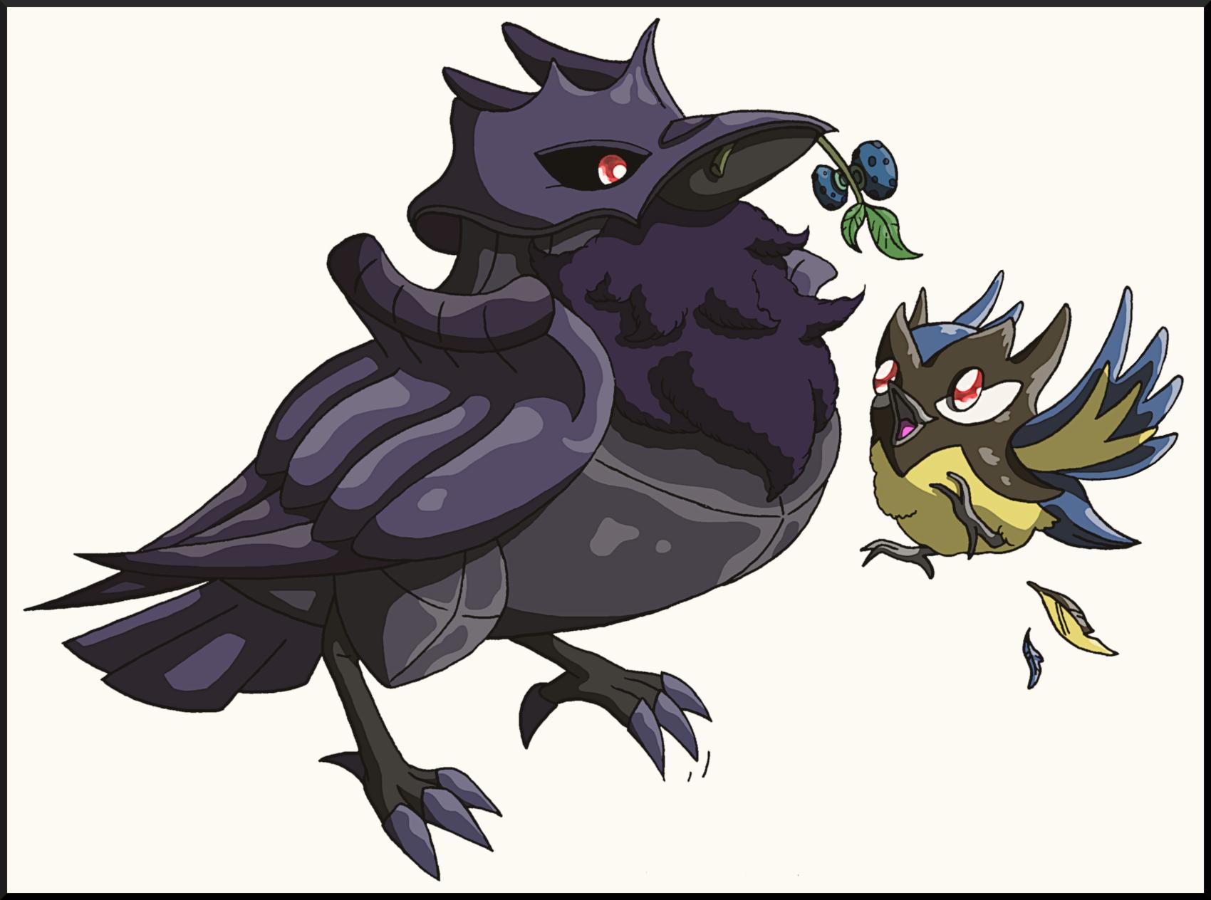 Pokémon-Zeichnung: Rabenmutter