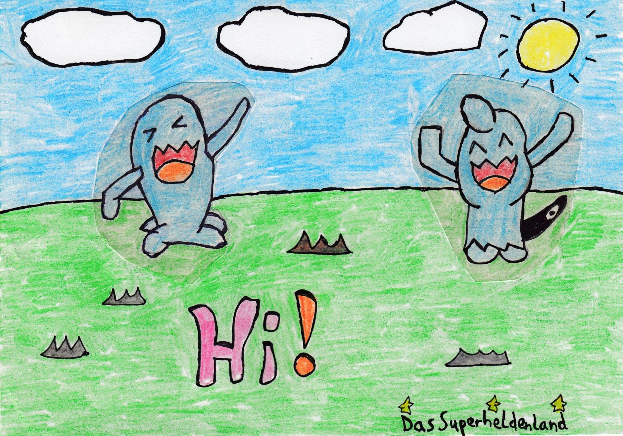 Pokémon-Zeichnung: Hallo Leute