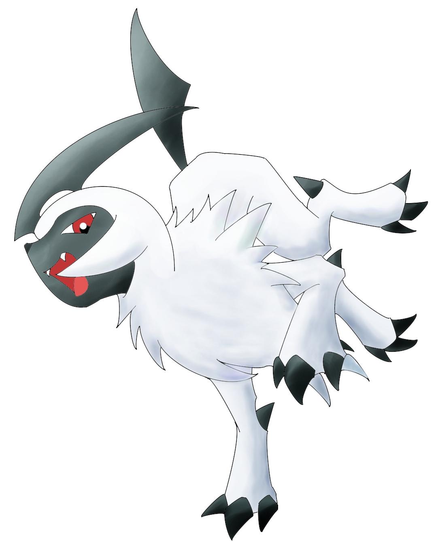 Pokémon-Zeichnung: Absol Coloration