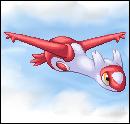 Pokémon-Pixelart: Latias im Himmel