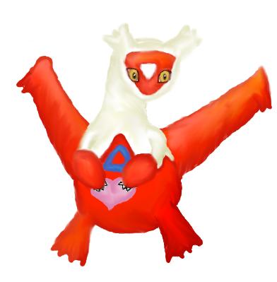 Pokémon-Zeichnung: Latias