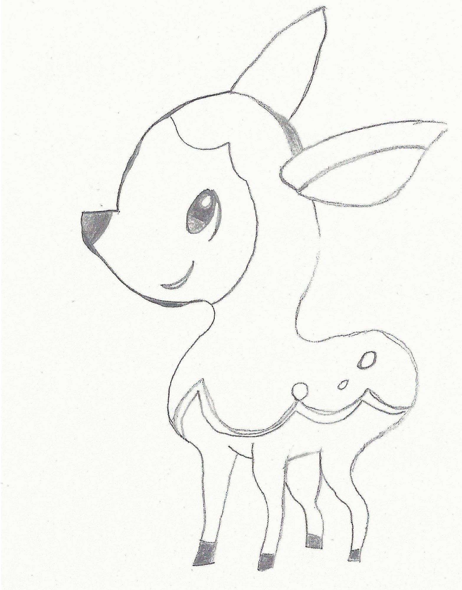 Pokémon-Zeichnung: Shikijika Uncolor