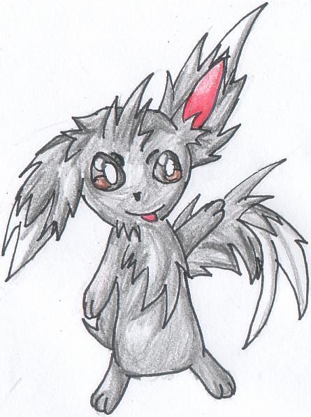 Pokémon-Zeichnung: Chiramii grau