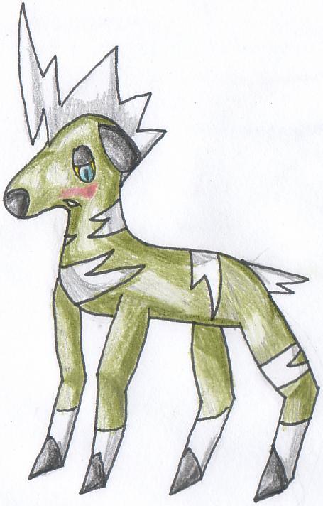 Pokémon-Zeichnung: Schüchternes Shimama