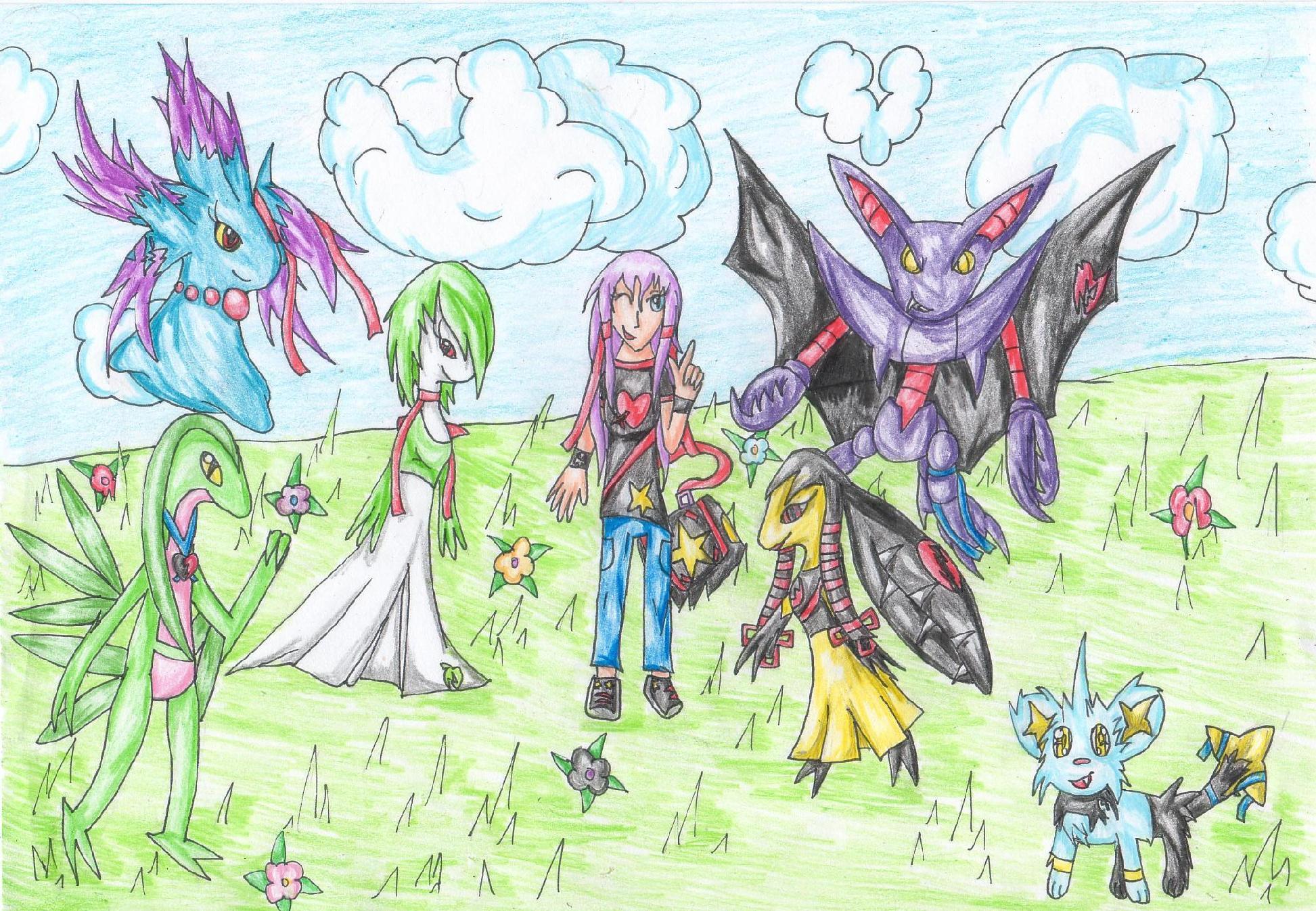 Pokémon-Zeichnung: Shiritsu's Pokemon Team