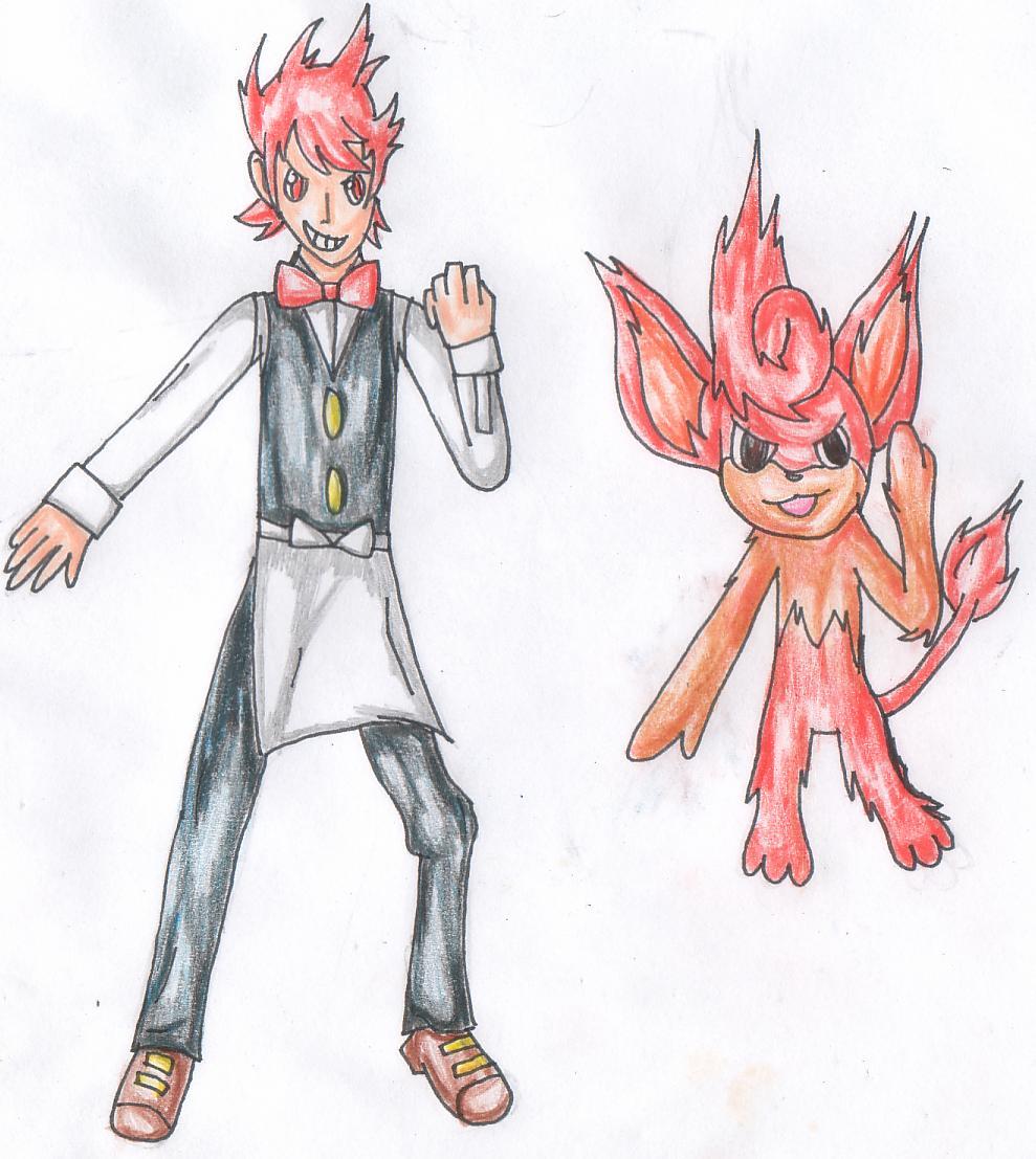 Pokémon-Zeichnung: Poddo&Baoppu