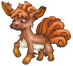 Pokémon-Pixelart: Vulpix Scratch