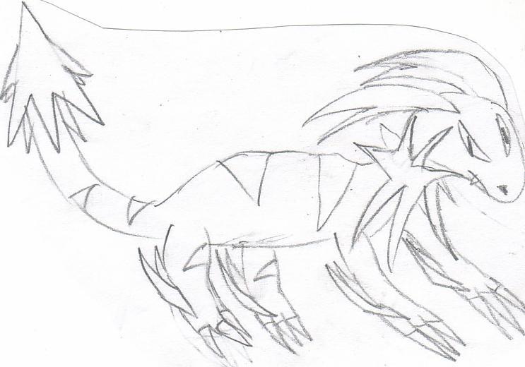 Pokémon-Zeichnung: Elektro-Kampf Poke