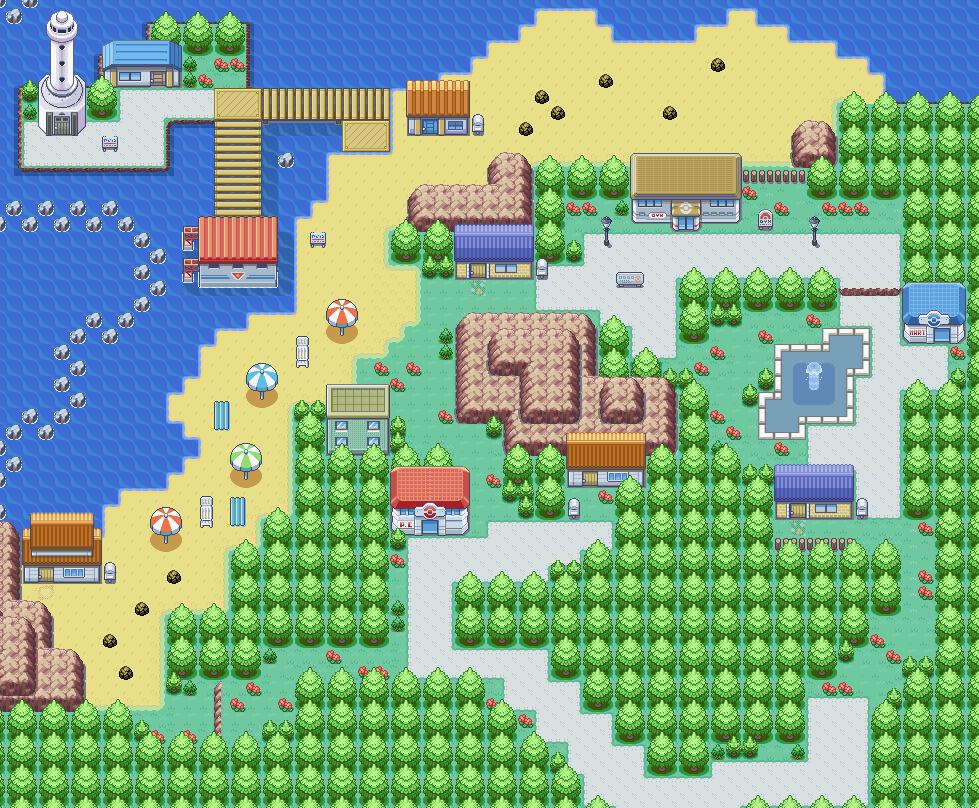 Pokémon-Map: Ocean City