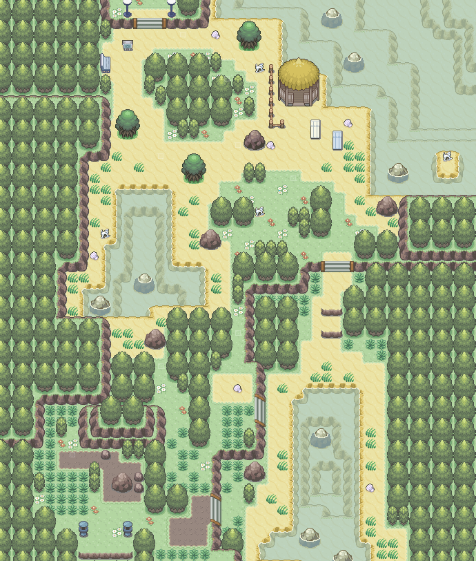 Pokémon-Map: Route 03 - White