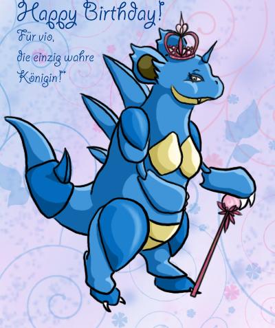 Pokémon-Zeichnung: Vio-Nidoqueen