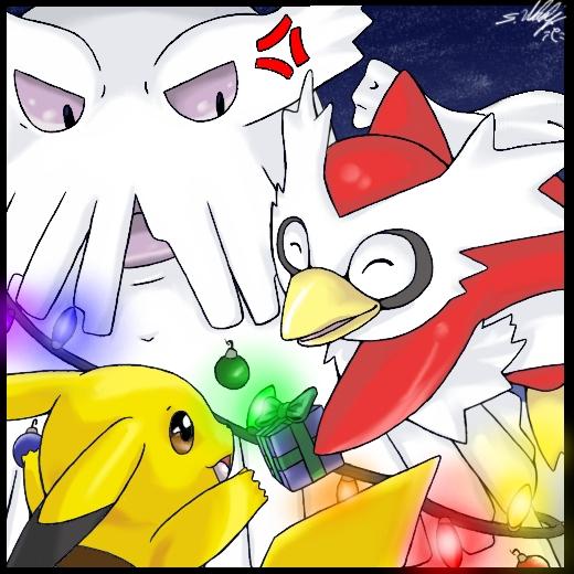 Pokémon-Zeichnung: Weihnachtszeichen-Wettbewerb 2009