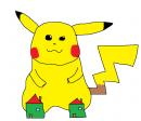 Pikachu mit Hausschuhen