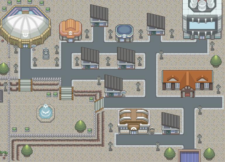 Pokémon-Map: Großstadt