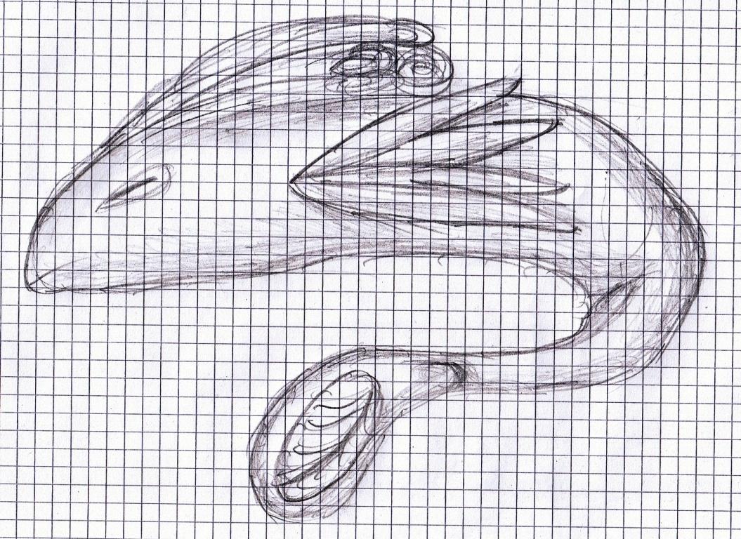Pokémon-Zeichnung: Pflanzen-Fisch Zeichnung