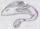 Pflanzen-Fisch Zeichnung